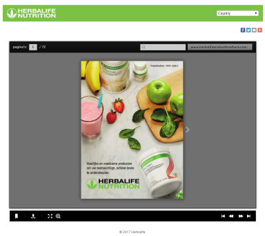 Herbalife productbrochure website